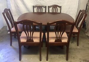 Dining Table & 6 Chairs - Red Cedar Chiswell Paddington Brisbane North West Preview