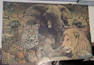 Puzzel of Painting of Lion and Elephant