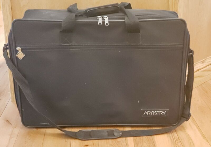 Amway Artistry Carrying Travel Case Storage Scrapbooking Crafts Organizing Black