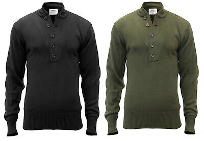 sweater gi military style 5 button acrylic various colors and sizes rothco 6368 Acrylic Colored Sweater