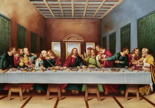 Last supper, Michelangelo, 24x36, Oil Painting Reproduction on Canvas,