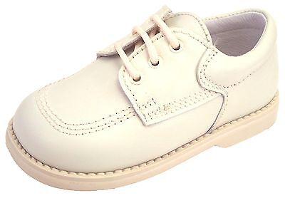 DE OSU/FARO F-4364 - Baby/Toddler Boys' Euro Ivory Leather Dress Shoes - Size 4 - Ivory Dress Shoes Toddler