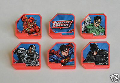 12 DC Comics Justice League Cup Cake Rings Topper Party Goody Bag Favor Supply - Justice League Cake