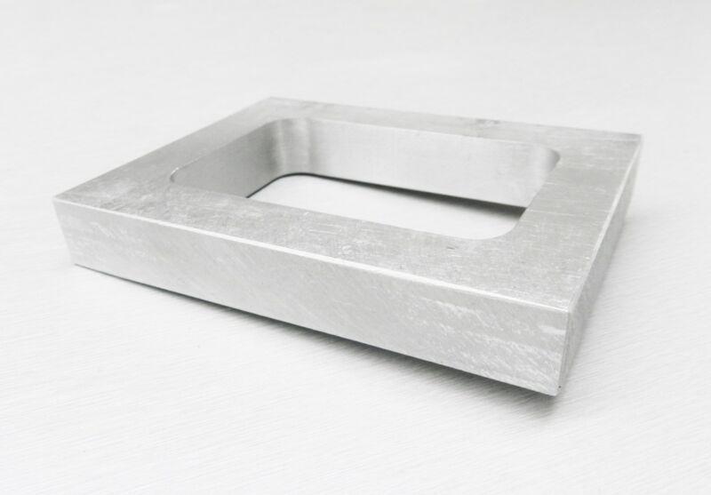 "Mold Frame For Vulcanizer Single Cavity Aluminum Pre-Cut Mold Rubber 5/8"" Thick"