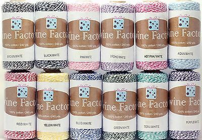Baker's Twine, 240 yd, 4 Ply, Multi-color, Scrapbooking, Package Wrap, Gift - Bakers Twine