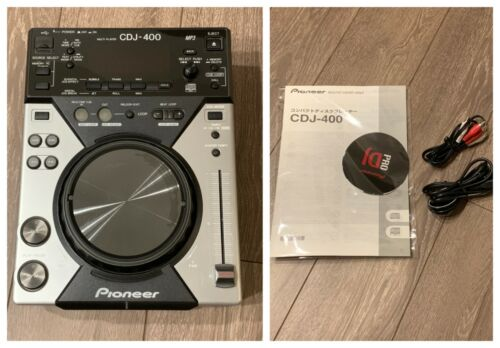 PIONEER CDJ Controller CDJ-400 Digital CD Deck Used Tested Instructions cable