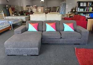 DELIVERY TODAY BIG MODERN GREY L SHAPE corner sofa lounge, couch Belmont Belmont Area Preview