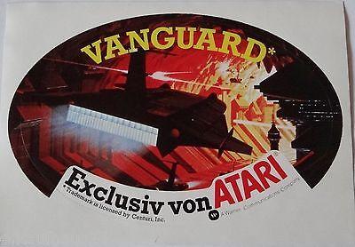 Aufkleber ATARI Videogame VANGUARD VCS 2600 80er Sticker Autocollant Decal