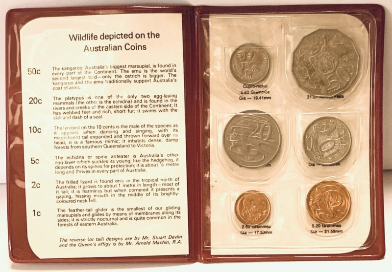 Wildlife depicted on the Australian Coin Set of 6