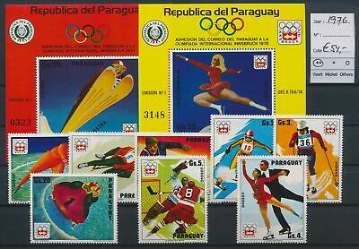 LO17128 Paraguay 1976 sports olympics fine lot MNH cv 54 EUR