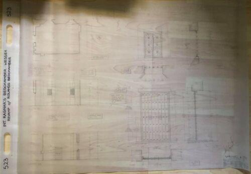 TV Show VIKINGS original PROPS blueprints - RAGNAR's Bedchamber Wessex