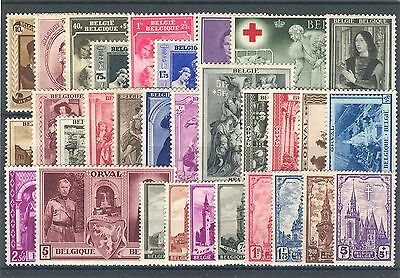 BE - BELGIUM 1939 complete year set MNH