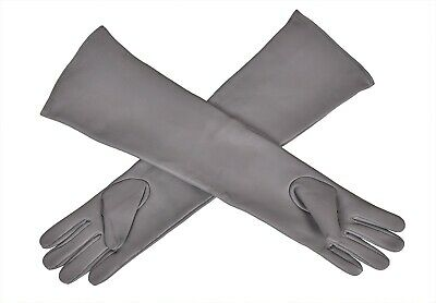 54cm Long Genuine Leather Opera Length Party Plain Evening Elbow Gloves (Cruella De Vil Gloves)