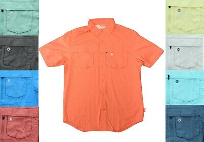 Cotton Blend Short Sleeve Shirt - Coleman Men's Adventure Stretch Cotton Blend Short Sleeve Button Down Shirt