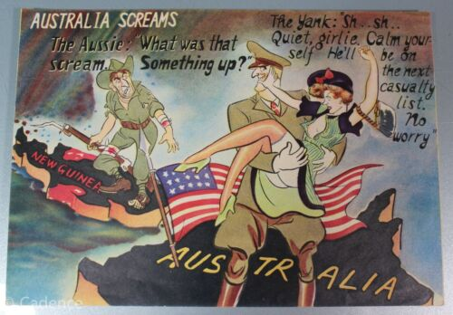WW2 Japanese IJA Propaganda Leaflet Allied Australia Screams Rare Nice 4