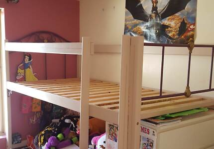 DIY Bunk bed solid wood iron very sturdy
