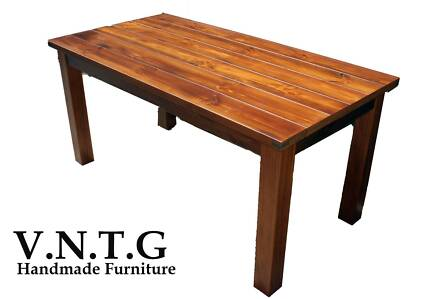 RUSTIC DINING TABLE TIMBER 2.4M LONG CUSTOM MADE IN AUSTRALIA