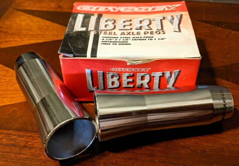 ODYSSEY Liberty Axle Pegs NOS 3/8 inch Non-Threaded Old mid Old School BMX