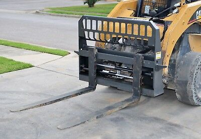 48 Adjustable Hydraulic Sliding Pallet Fork Set Skid Steer Loader - Free Ship