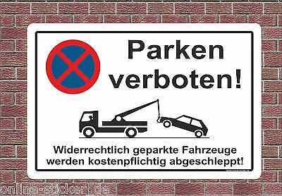 Parkverbot Schild Parken Verboten Bauschild HALTEVERBOT HINWEISSCHILD 2053