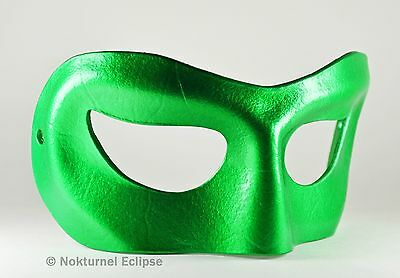 Male Green Leather Mask Halloween Kato Superhero Cosplay Hornet Costume Party - Green Superhero Mask