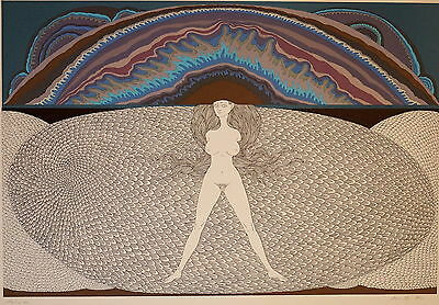 Wolfgang Hutter, grosse Litho, Auflage 20 Stk, 1974, signiert