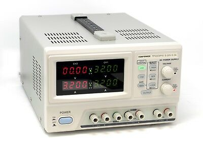 Tekpower Tp3003piii Programmable Dc Power Supply 0-30v At 0-3a Triple Outputs