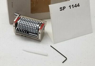 Leibinger 22 Straight Rotary Numbering Machine 316 11 Wheels - Stock Sp1144