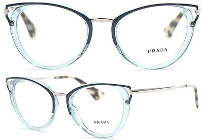 Prada Damen Brillenfassung PR53UV VYS-1O1 50mm blau cat eye Vollrand 441A 23