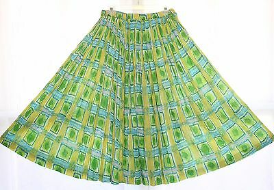 Sheer India Cotton Drawstring Skirt Geo Hippie Boho Gypsy Peasant Festival