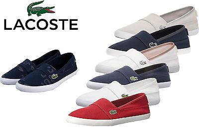 Lacoste Womens Shoes Marice Slip On Sneaker White Black Casual Sneaker NEW Lacoste Womens Slip