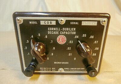 Vintage Cornell-dubilier Decade Capacitor Box Model Cdb5