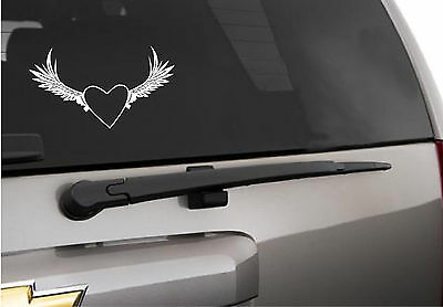 Flying heart angel wings vinyl decal  - Flying Heart