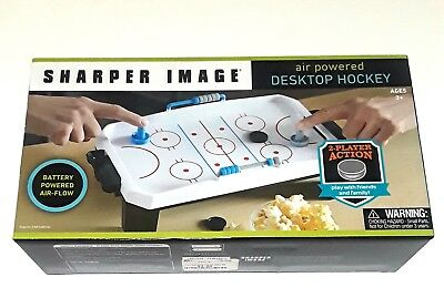 Sharper image Air Powered Desk Top Hockey - NEW! Table Desktop Games  Desktop Air Hockey