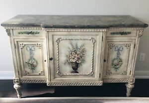 Elegant, hand painted, one-of-a-kind sideboard