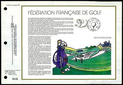 FRANCE CEF 1980 GOLF SPORT SPORTS ERSTTAGSBLATT z1861