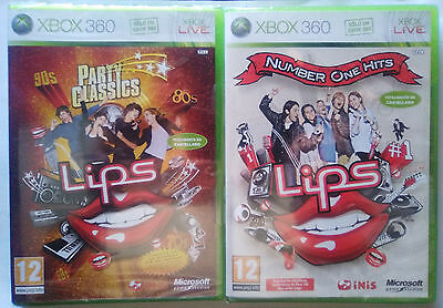PACK LIPS PARTY CLASSICS & NUMBER ONE HITS. XBOX 360. REQUIERE MICROFONOS LIPS.