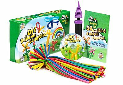 Deluxe Balloon Figure Modeling & Twisting Kit 100 Balloons Pump Instruction DVD - Balloon Animals Instructions