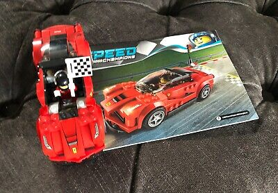 Lego Ferrari with Racing Driver