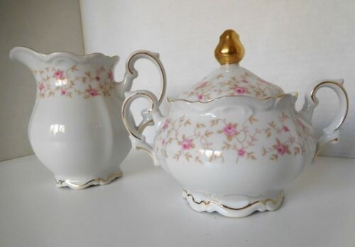 Mitterteich LADY CLAIRE Sugar and Creamer with Lid Set