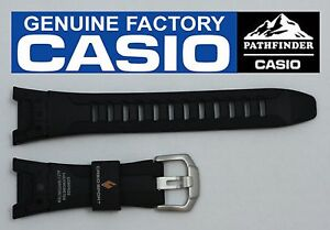 CASIO-PATHFINDER-PAW-1300-Original-Black-Rubber-Watch-BAND-Strap-PRG-110