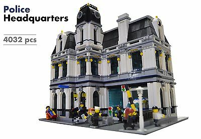 Police Custome (Lego Custom Modular Building [Police Headquarters/Station] INSTRUCTIONS)