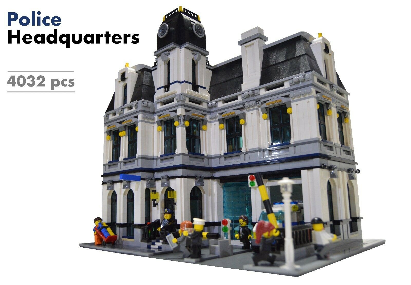Lego Custom Modular Building [Police Headquarters/Station] INSTRUCTIONS  ONLY | Shopping Bin - Search eBay faster