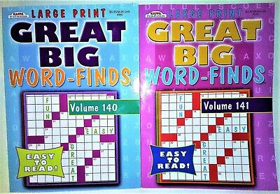 2 NEW KAPPA LARGE PRINT GREAT BIG WORD-FINDS Search Puzzle Books Vols 140-141