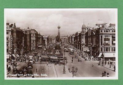 O'Connell Street Nelson Pillar Dublin RP pc unused Valentines Ref H130