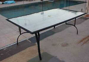 Outdoor 6 seater glass dining table Birkdale Redland Area Preview