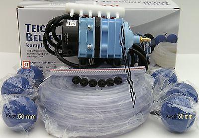 Sauerstoffpumpe Teichbelüfter LK-60  60L/min 30 Watt 6 x 50 mm Kugel + Schlauch