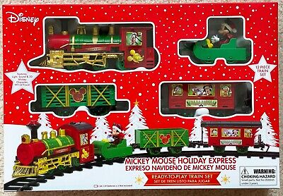 Disney Mickey Mouse Holiday Express 12 Piece Train Set For CHRISTMAS BRAND NEW!