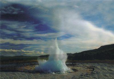 Lentikular -Wackelkarte: Geysir auf Island - Geysir on Iceland