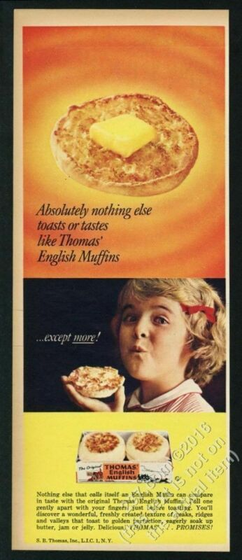 1962 Thomas English Muffins color photo vintage print ad 4